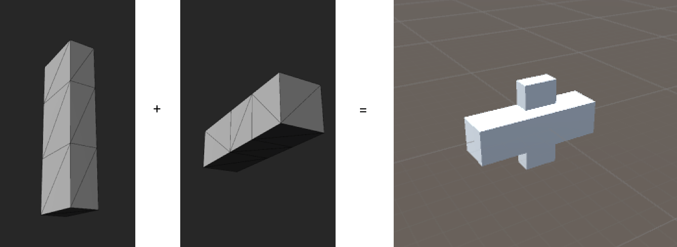 Combine meshes in Unity