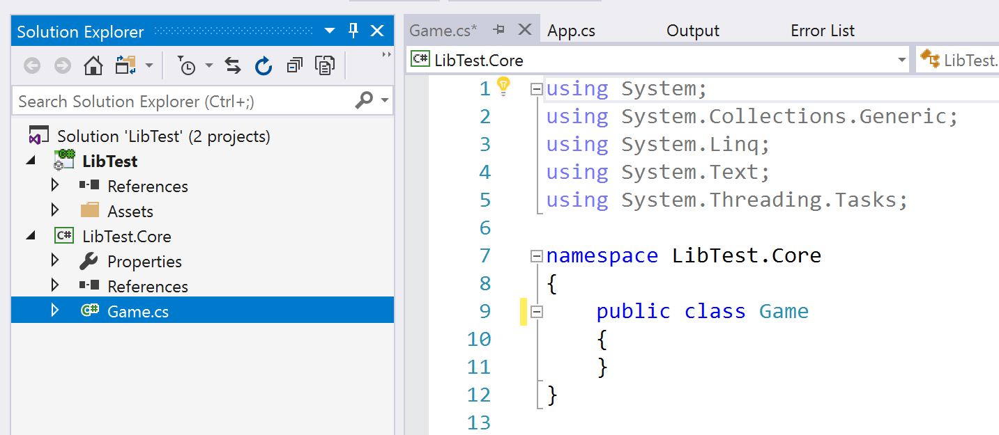 Create a  NET class library with Unity3D and Visual Studio - Loek